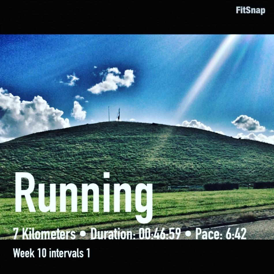 Run # 1 - Intervals (on the dike)