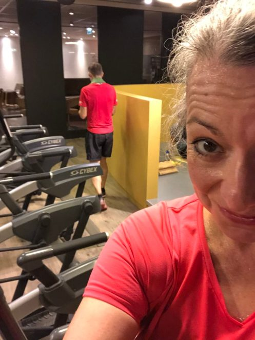 Back at the gym