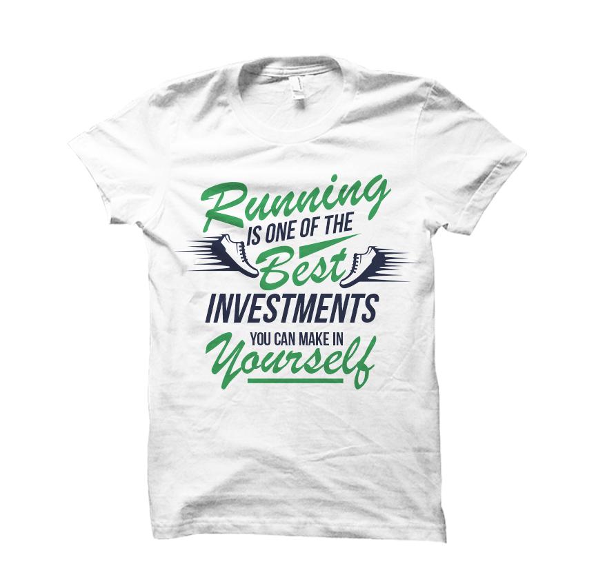 87b53f46b6c3a Motivational 'Investment' Running T-Shirt