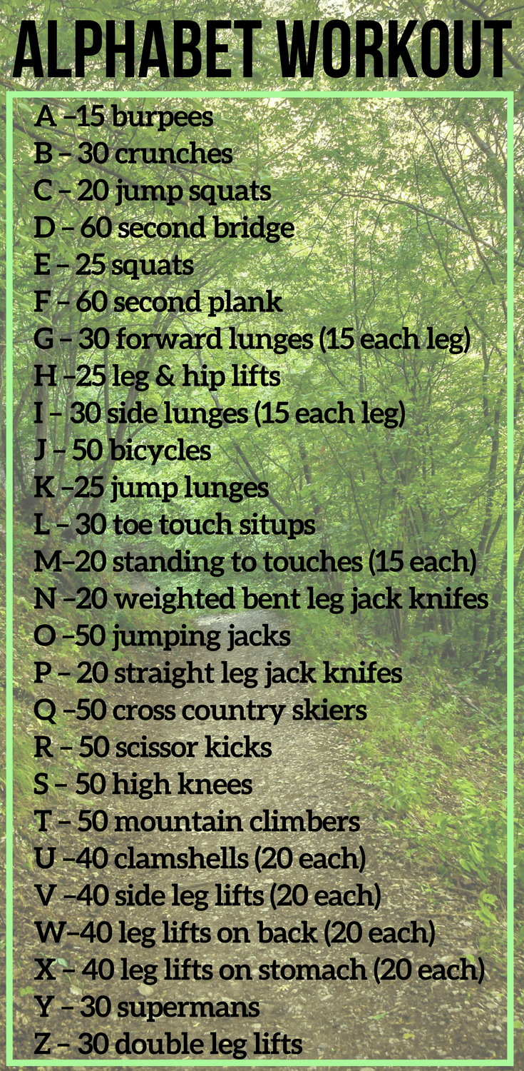 Alphabet Workout Ideas