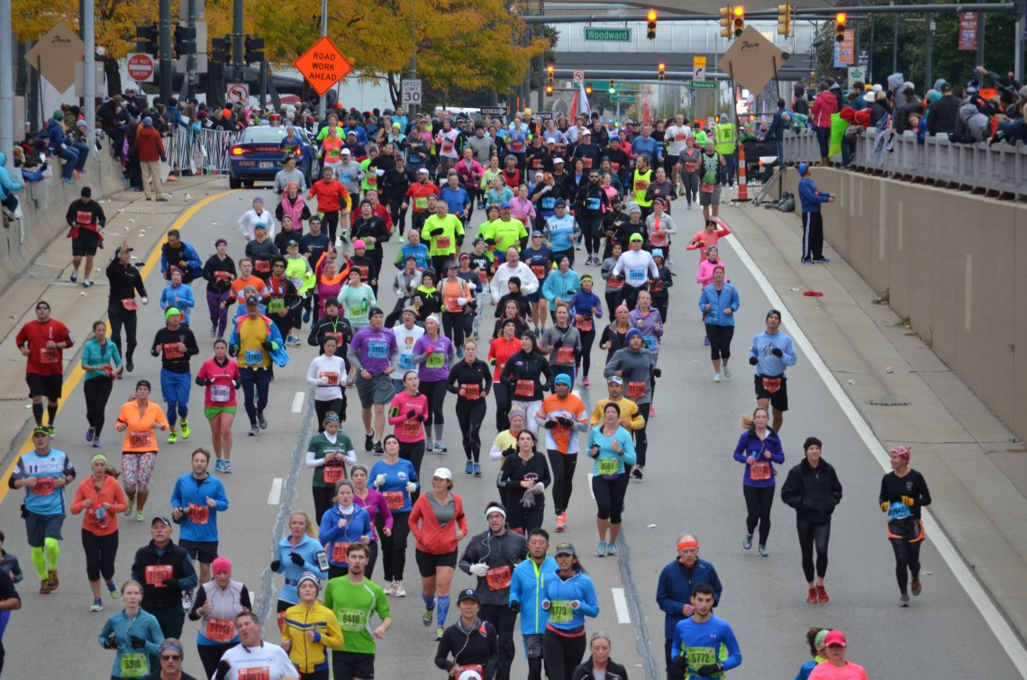 Runner at the Detroit Marathon