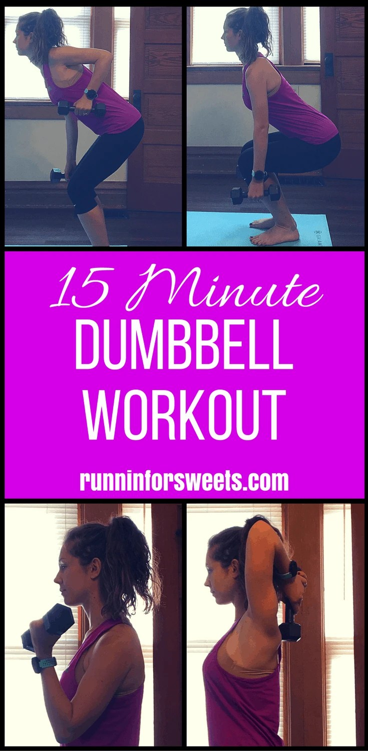 Simple 15 Minute Dumbbell Arm Workout | Runnin' for Sweets