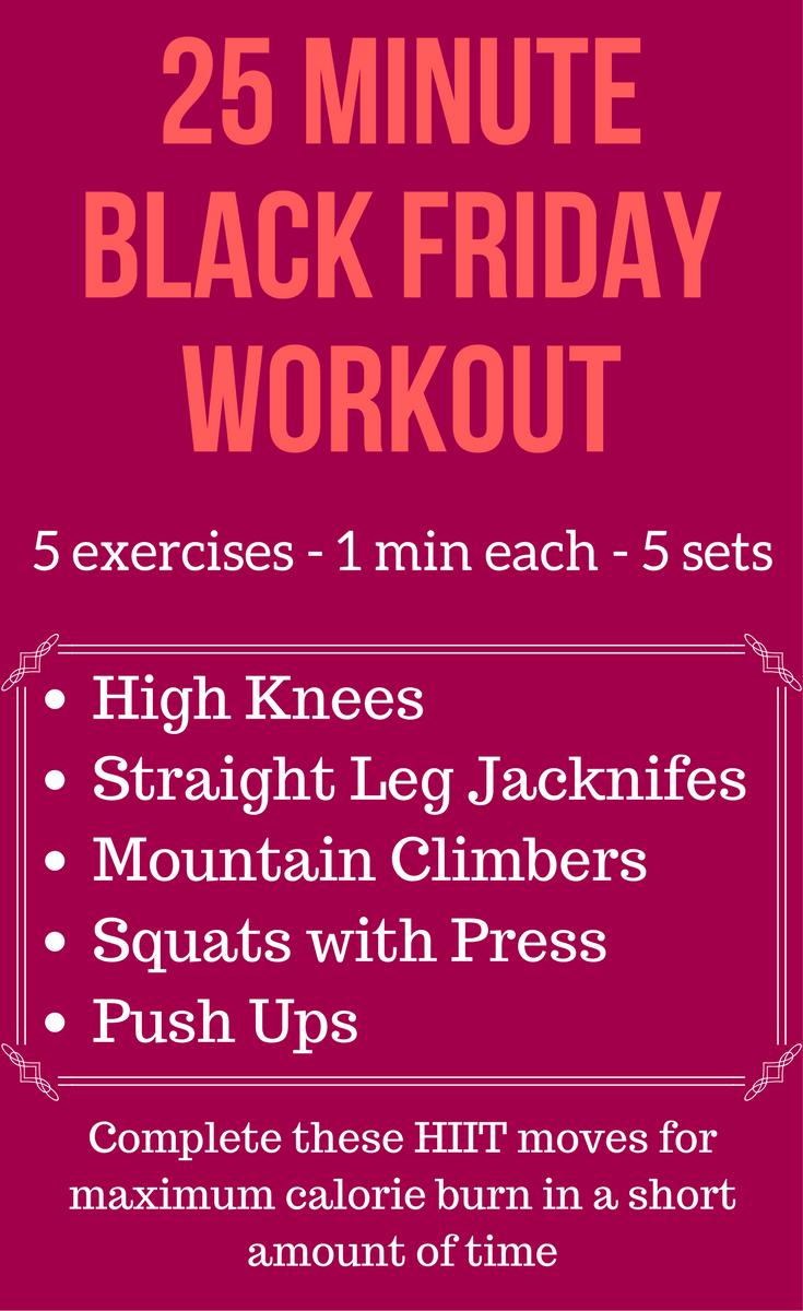 Black Friday Workout Calorie Burn