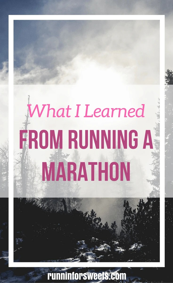 Lessons from Running a Marathon