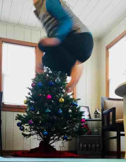 Christmas Workout Tuck Jumps