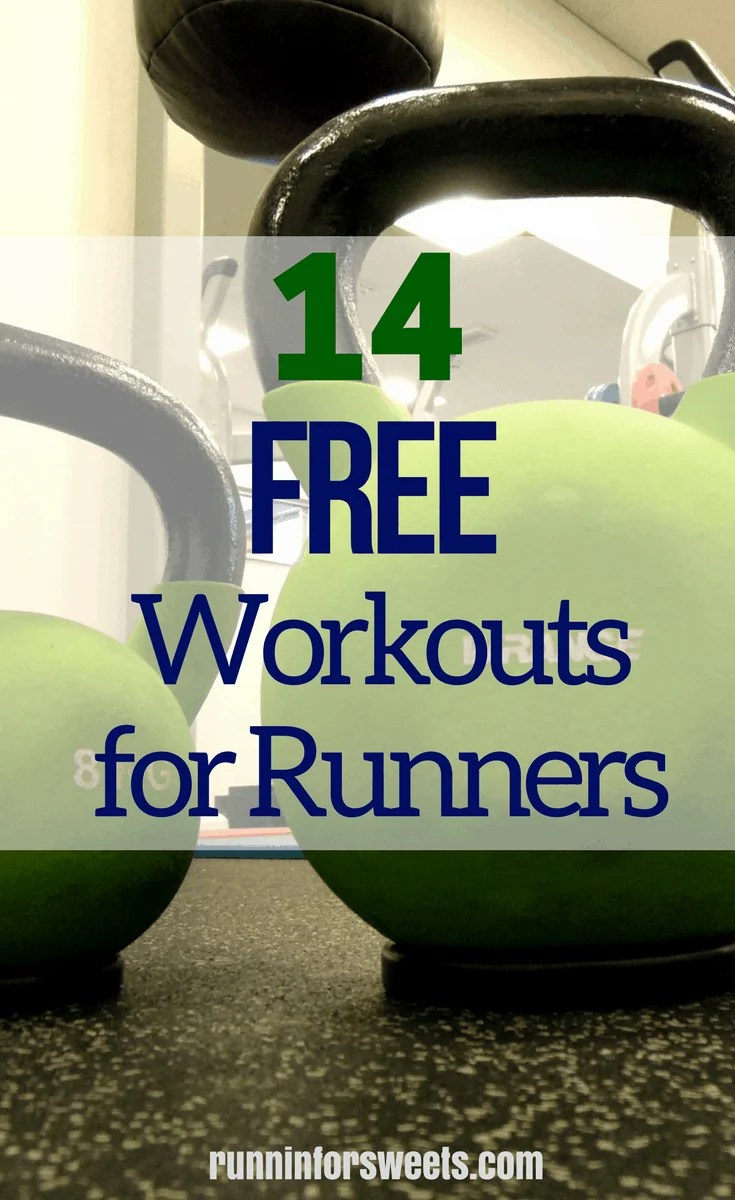 14 Workouts Runners Will Love: FREE essential cross training workouts for runners to build strength and speed.