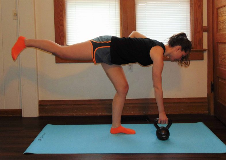 Full Body Toning Kettlebell Workout: This at home workout will give you a full body fat blasting workout, with no equipmentneeded other than a single kettlebell.