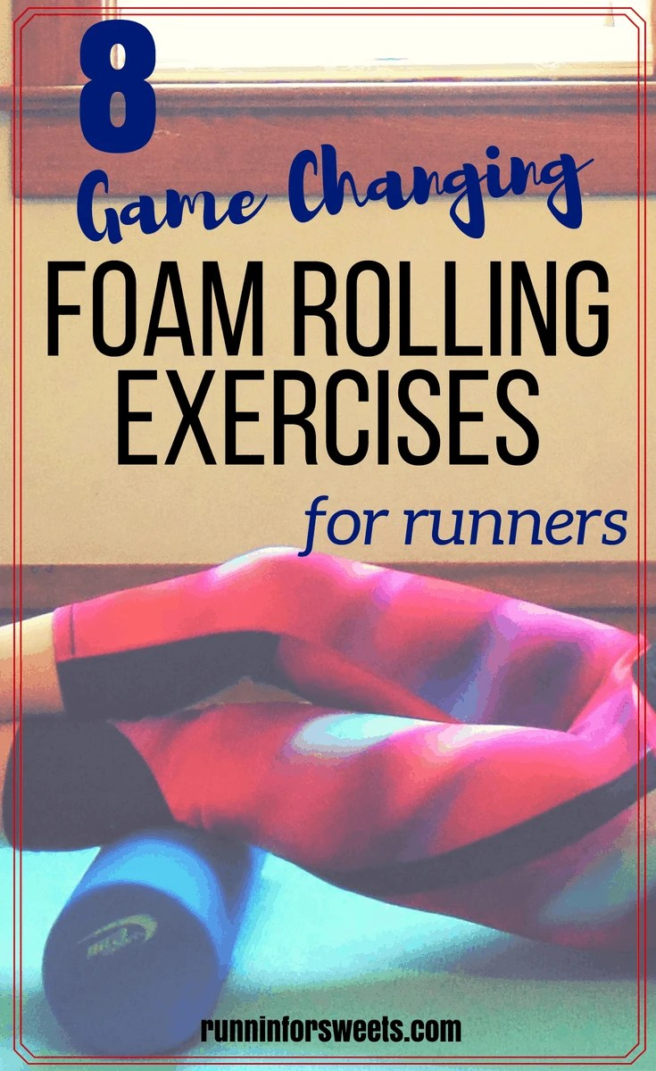 These simple foam roller exercises for runners are an essential part of recovery. Discover the trigger points in your muscles to help speed up recovery in your legs after running. These foam roller stretches are the best for sore muscles, and simple enough for beginners. Banish knee pain, shin splints, It band pain, and more common running injuries with these foam rolling exercises! #foamroller #foamrollerexercises #runningrecovery #stretchesforrunners