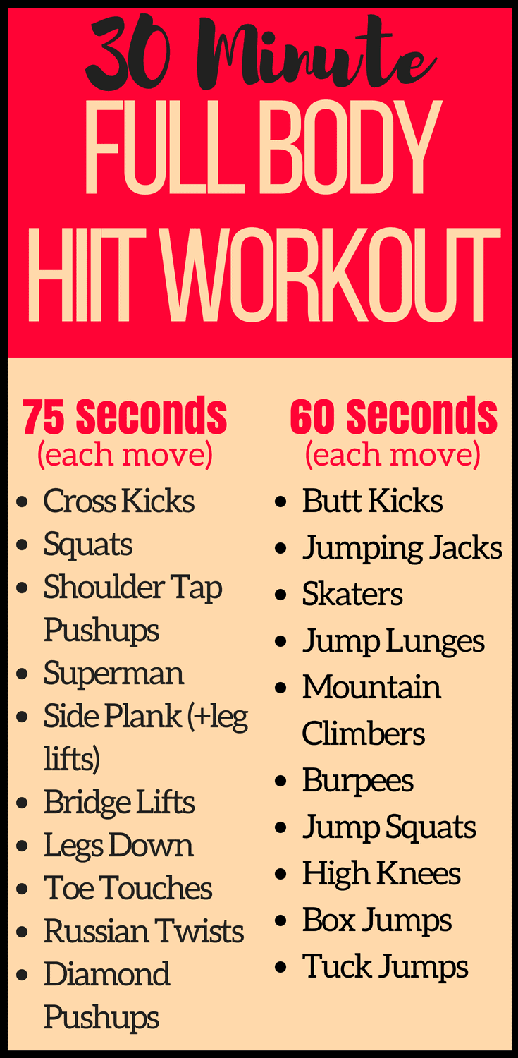 This 30 Minute Full Body At Home HIIT Workout Combines The Ultimate Cardio Moves For An
