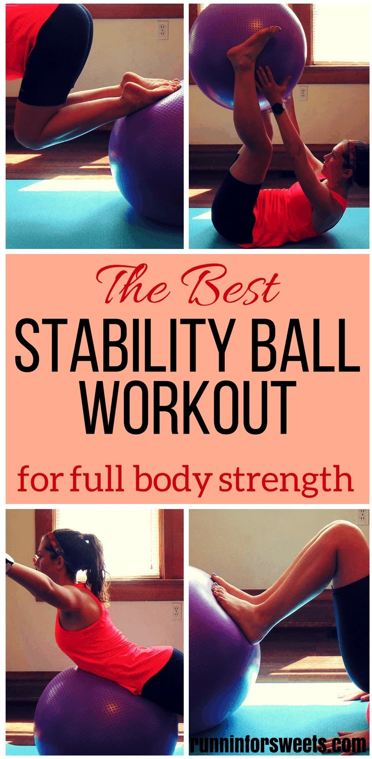 You can find all of the best total body stability ball exercises in this workout. This full body stability ball workout is great for beginners looking for some strength training and toning. Complete these stability ball exercises at home or at the gym in less than 20 minutes! #stabilityballworkout #stabilityballexercises #fullbodyworkout
