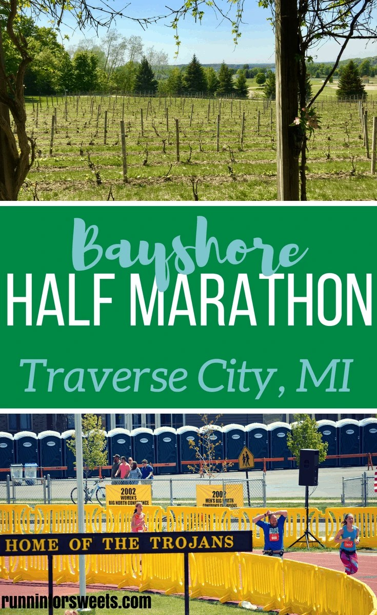 The Bayshore Half Marathon race in Traverse City, Michigan is definitely a destination worthy race. With the entire course along the shore of Lake Michigan, this race is one for the bucket list! #halfmarathons