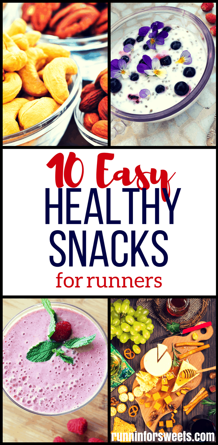 There's no doubt that running burns calories and makes you hungrier throughout the day. The tricky part is finding easy snack ideas that are healthy enough to compliment your hard work. These 10 health snacks for runners are the perfect post workout snacks to refuel with real food. Check out these 10 amazing running snack ideas! #snacksforrunners #healthysnackideas #postrunsnacks