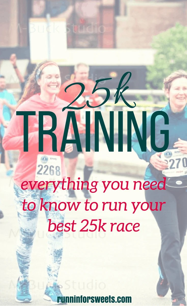 The ultimate resource for any runner during 25k training. Here is everything you'll need to know - from training plans, to injury prevention, race week tips, and race day checklists. #25krace #25k