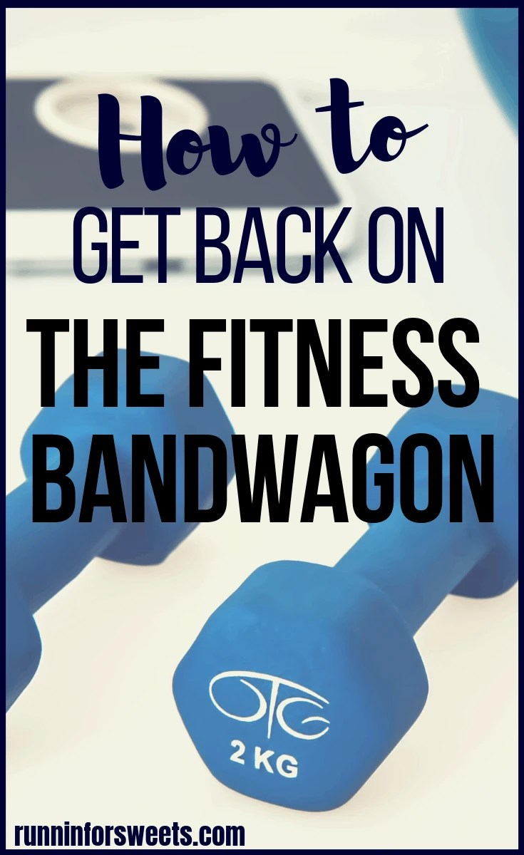 We've all been there. Realizing that we fell off the fitness wagon is never fun, but luckily there are a few simple steps you can take to make getting back on track easier. When life knocks you down and your workout and exercise routine is nonexistent, try these 5 tips to get back on track. #fitnesstips #fitnesswagon #getbackontrack