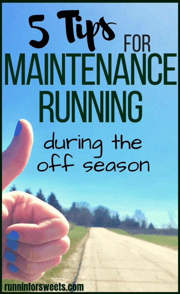 These off season running training tips will help you make the most of maintenance running. This time between training plans is crucial for runners to maintain fitness, avoid injury and reduce your chance of suffering from mental burnout. Try these 5 tips to make the most of your off season running! #offseasonrunning #maintenancerunning