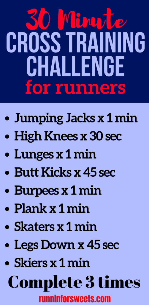 These 12 cross training workouts for runners are an incredible addition to your weekly training plan! Check out these strength training, cardio and HIIT workouts for convenient, at home cross training. With cross training workout ideas for beginners to advanced, these 12 workouts are a must, whether you're training for a 5k or a marathon! #crosstraining #crosstrainingworkouts #runningcrosstraining #crosstrainingideas