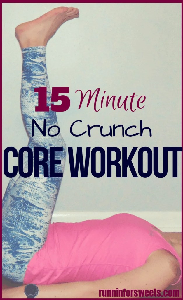 This 15 minute crunchless ab workout is the perfect way to strengthen your entire core with no crunches. Gain powerful strength and flatten your belly with some of the best core exercises! Include this core workout in your strength training routine to quickly tone your abs. #crunchlessabworkout #coreworkout #coreexercises #abexercises