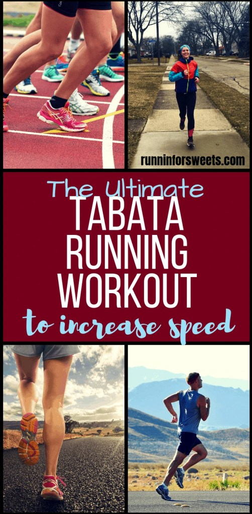 This 30 minute Tabata running workout is a perfect way to incorporate interval training and burn fat with each workout. Try this Tabata workout on the treadmill, track or right outdoors. This simple workout is an easy way to increase running fitness and boost endurance! #tabataworkouts #tabatarunningworkouts #tabatatraining