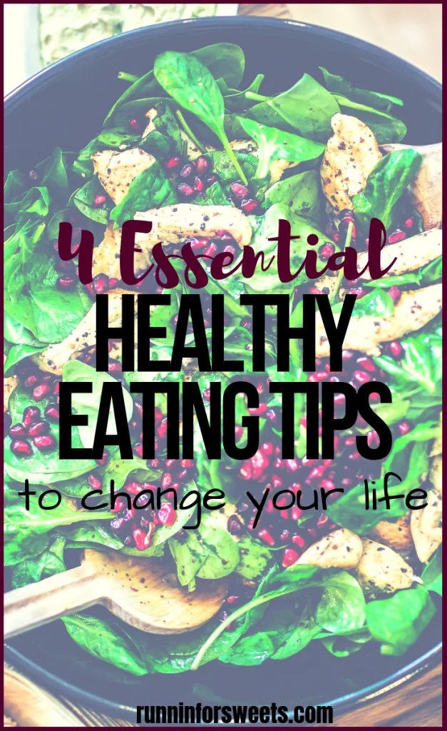 Eating healthy doesn't have to involve drastic diets or calorie counting! These 4 easy healthy eating tips will help you find the motivation to make the lifestyle change you've always dreamt of. Check out these simple ideas for beginners to stay healthy and fit year round. #healthyeating #healthyeatingtips #healthyeatingmotivation