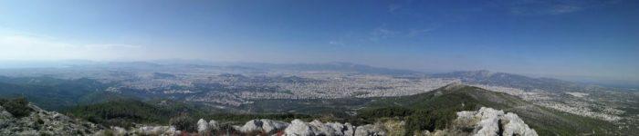 Διχάλα Υμηττός θέα από την Κορυφή