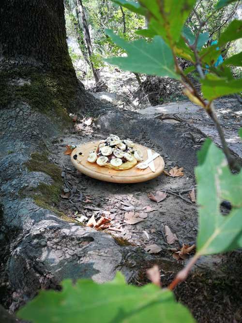 Pan-cakes στο camping κάμπινγκ δίπλα στο ποτάμι