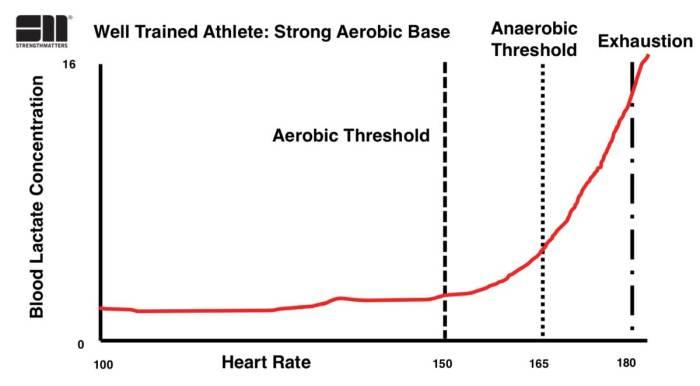 Όταν το αερόβιο και το αναερόβιο κατώφλι βρίσκονται κοντά ο οργανισμός μπορεί να παράγει εύκολα ενέργεια και συνεπώς παρουσιάζει καλύτερες αντοχές