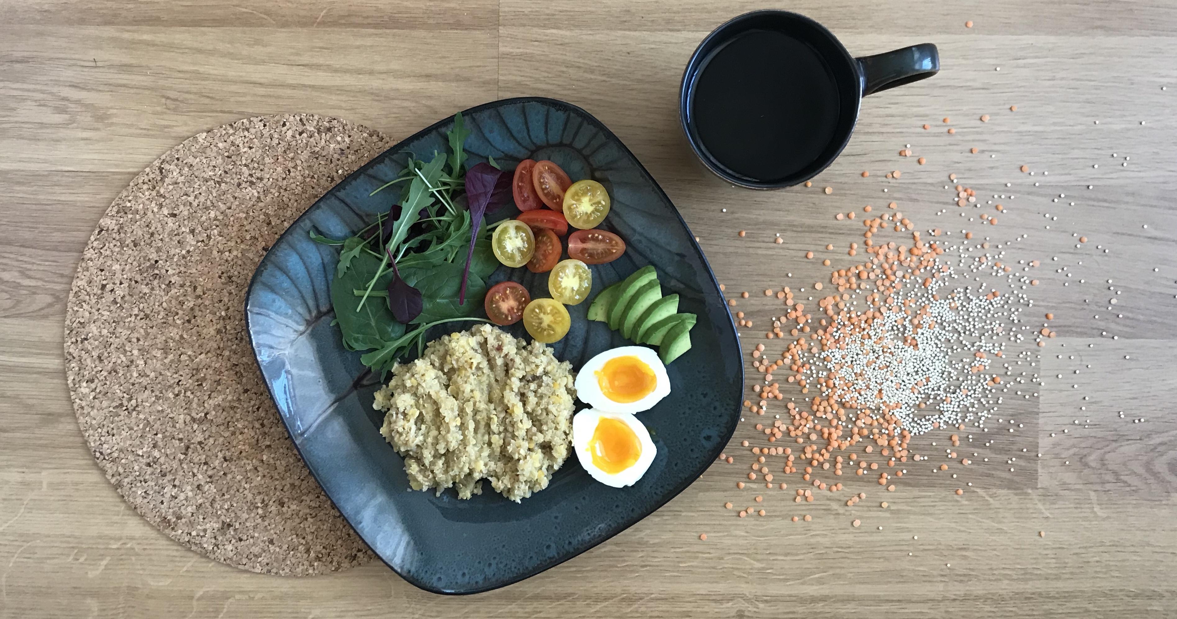 Běžecká snídaně: quinoa s červenou čočkou