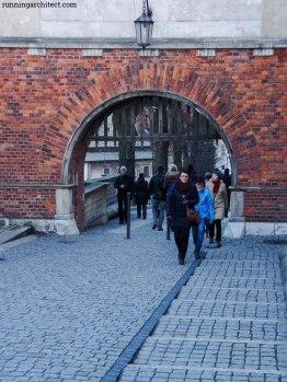 entry gate at wawel
