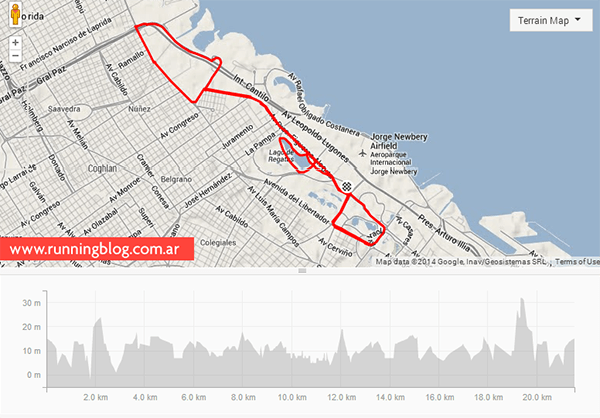 Nike We Run 21K 2014   Strava Route