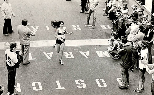 Patti Catalano Finishes The 1981 Boston Marathon