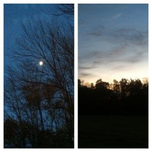 Moonlight to sunrise