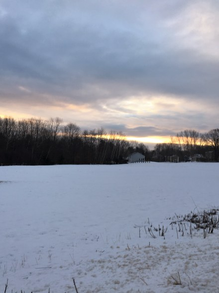 sunrise field sky