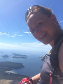 lone cone, me, top, up, view, Clayoquot Sound, Tofino