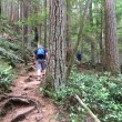 Heading up on Sandero Diez Vistas Trail, Coquitlam British Columbia