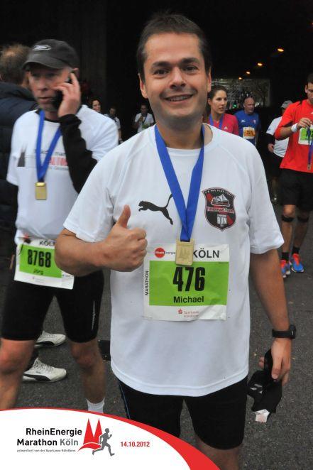 Michael Grulois, ici au marathon de Cologne