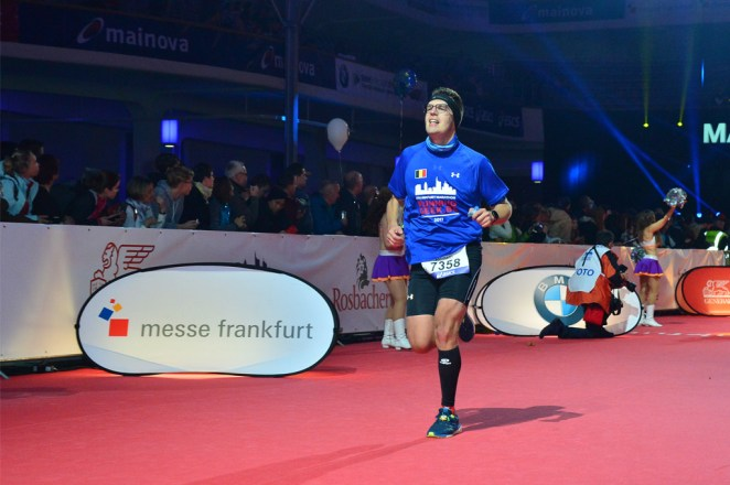 Romain à l'arrivée du Marathon de Francfort