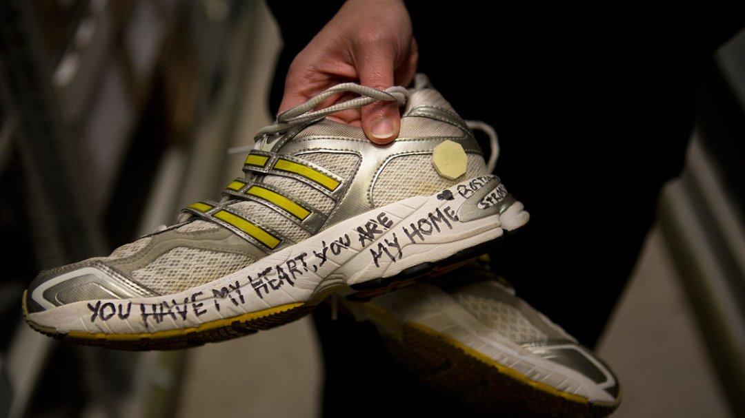 Boston Marathon shoes