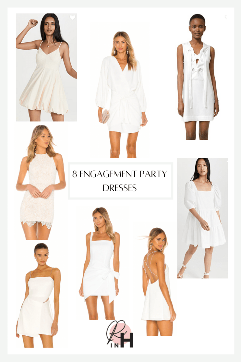 8 Cute Engagement Party Dresses for the Bride featured by top Dallas fashion blogger, Running in Heels.