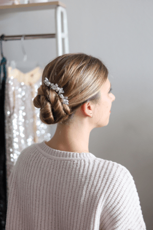 5 Festive Holiday Hairstyles for the Season featured by top Dallas beauty blogger, Running in Heels: ballerina bun