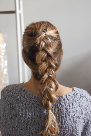 4 Cute Holiday Hair Accessories to Wear in Your Braids, hair tutorial featured by top Dallas beauty blogger, Running in Heels: gift ribbon
