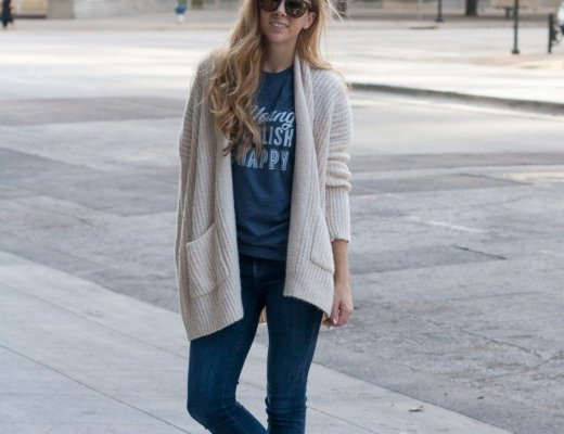 Casual Weekend Outfit | Running in Heels