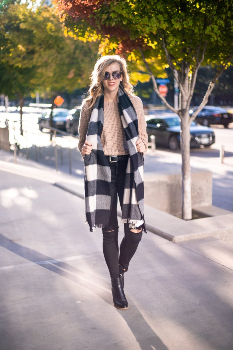 How to Tie a Blanket Scarf, tips featured by top US fashion blog, Running in Heels: let it hang