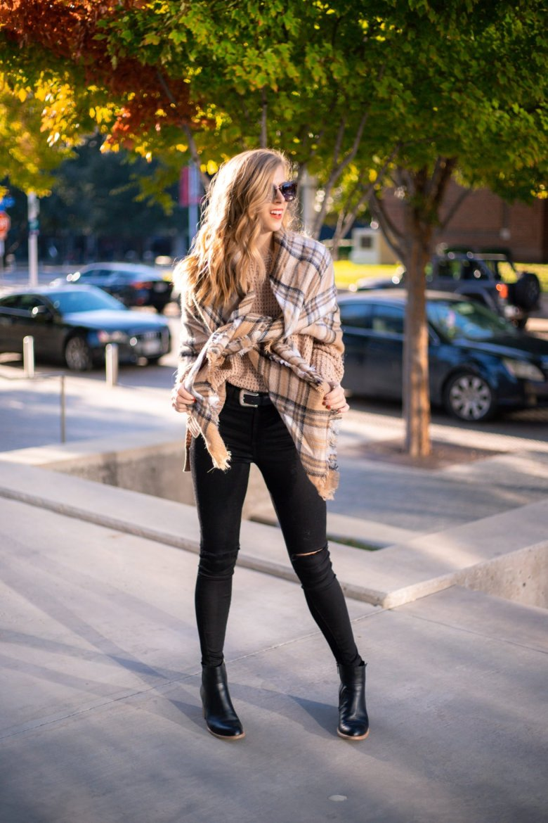 How to Tie a Blanket Scarf, tips featured by top US fashion blog, Running in Heels: cape