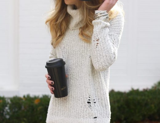 Running in Heels | Turtleneck Sweater | Winter Fashion