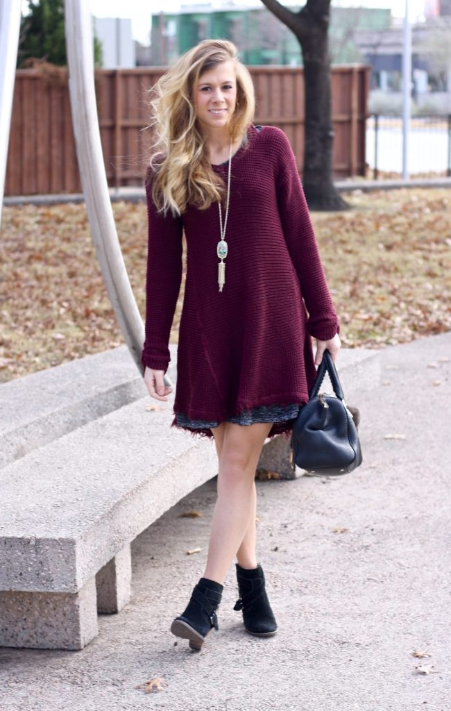 A Burgundy Sweater for the New Year