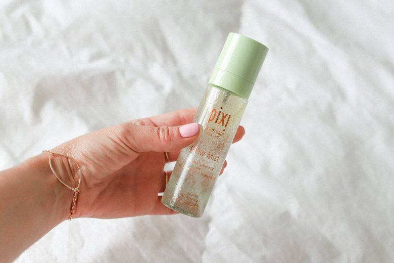 Best Face Sprays for Glowing Skin featured by top US beauty blog, Running in Heels: image of Pixi glow mist