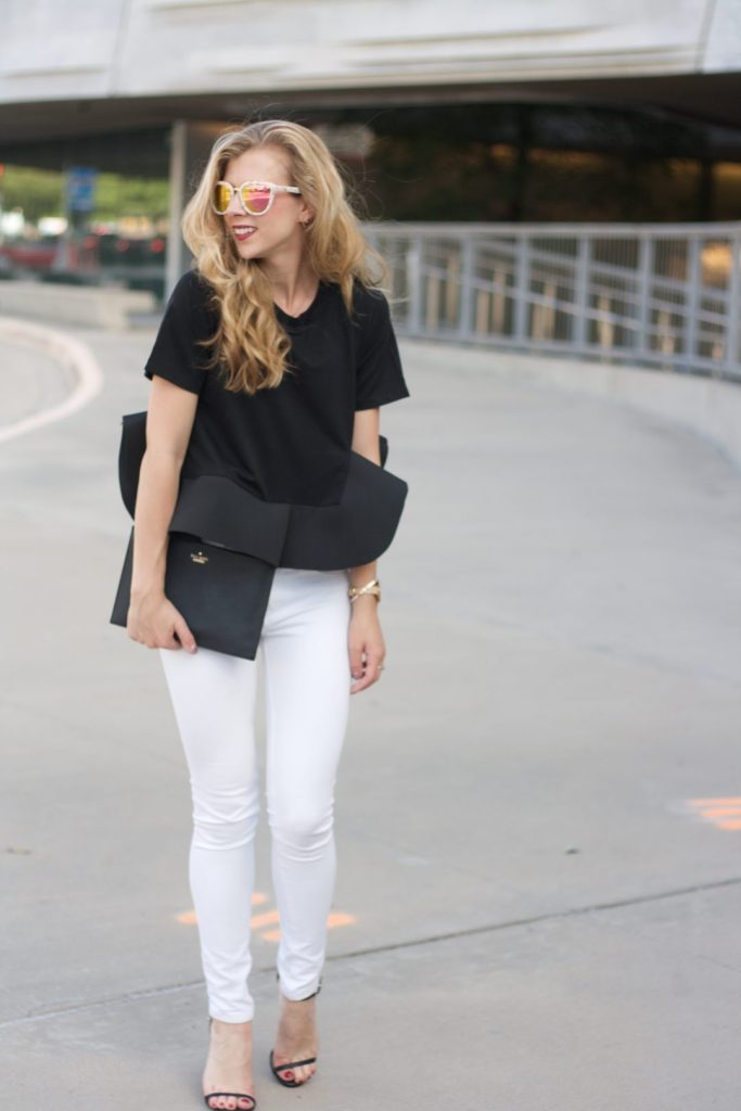 Black and White Ruffles