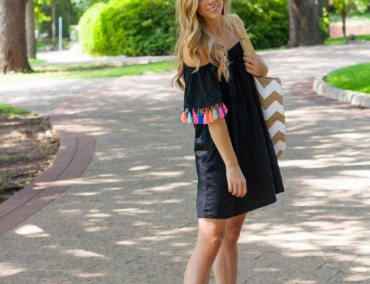 Colored Tassel Dress | Running in Heels