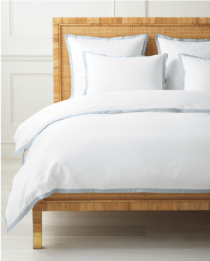 Serena and Lily Sale: Top Picks to Shop During the Fall Design Event featured by top Dallas lifestyle blogger, Running in Heels: Border Frame Duvet Cover