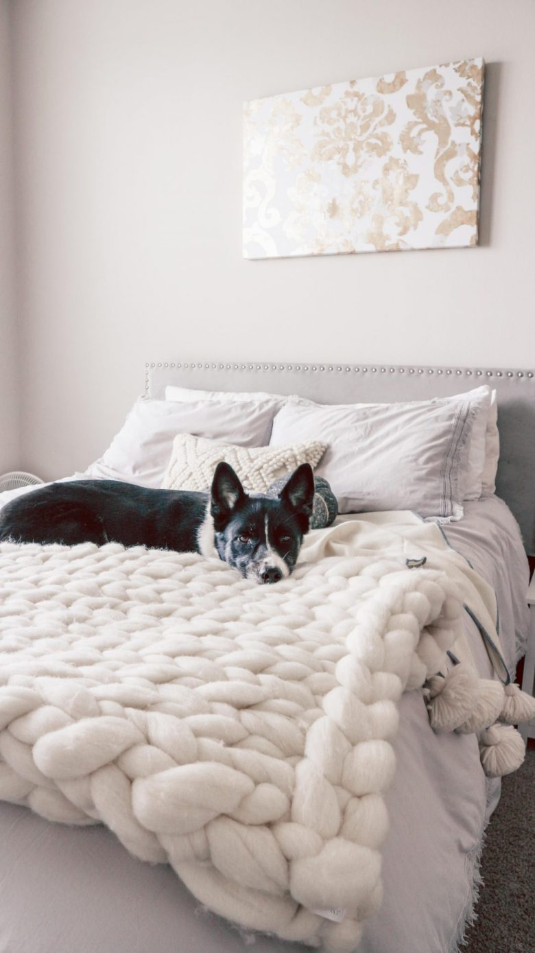 Serena and Lily Bedding Review featured by top US life and style blog, Running in Heels: Henley Wool Throw